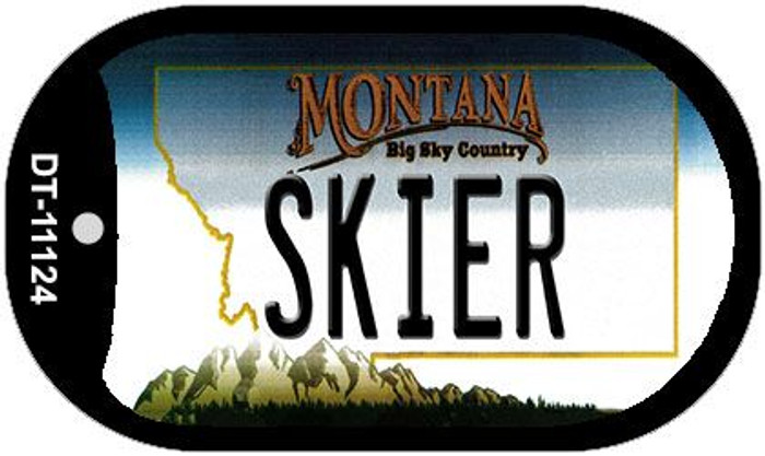 Skier Montana Wholesale Novelty Metal Dog Tag Necklace DT-11124