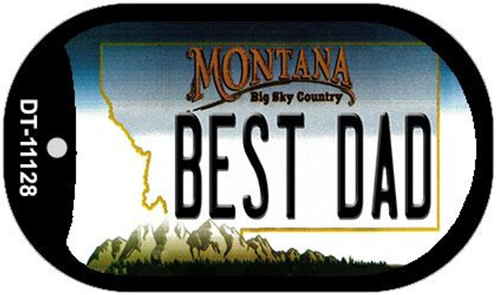 Best Dad Montana Wholesale Novelty Metal Dog Tag Necklace DT-11128