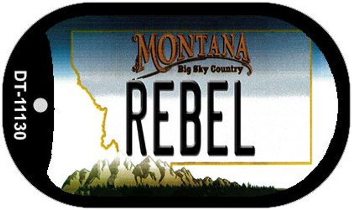 Rebel Montana Wholesale Novelty Metal Dog Tag Necklace DT-11130