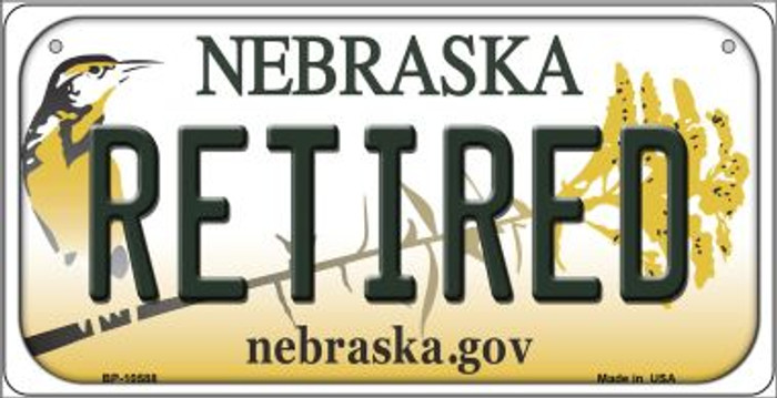Retired Nebraska Wholesale Novelty Metal Bicycle Plate BP-10588