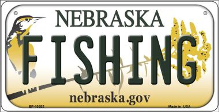 Fishing Nebraska Wholesale Novelty Metal Bicycle Plate BP-10592