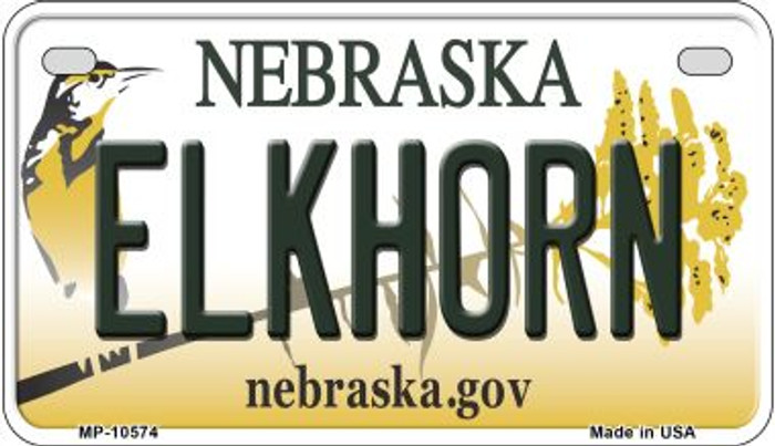 Elkhorn Nebraska Wholesale Novelty Metal Motorcycle Plate MP-10574
