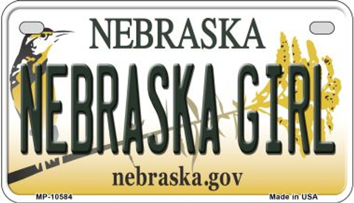 Nebraska Girl Nebraska Wholesale Novelty Metal Motorcycle Plate MP-10584