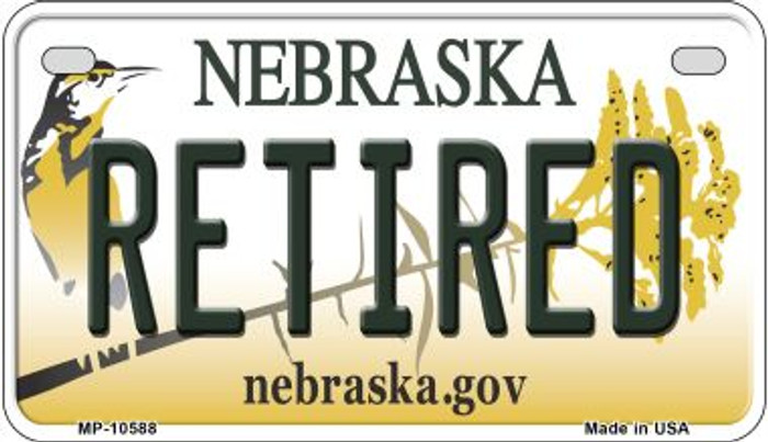 Retired Nebraska Wholesale Novelty Metal Motorcycle Plate MP-10588