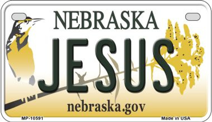 Jesus Nebraska Wholesale Novelty Metal Motorcycle Plate MP-10591