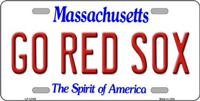 Go Red Sox Massachusetts Wholesale Novelty Metal License Plate LP-12185