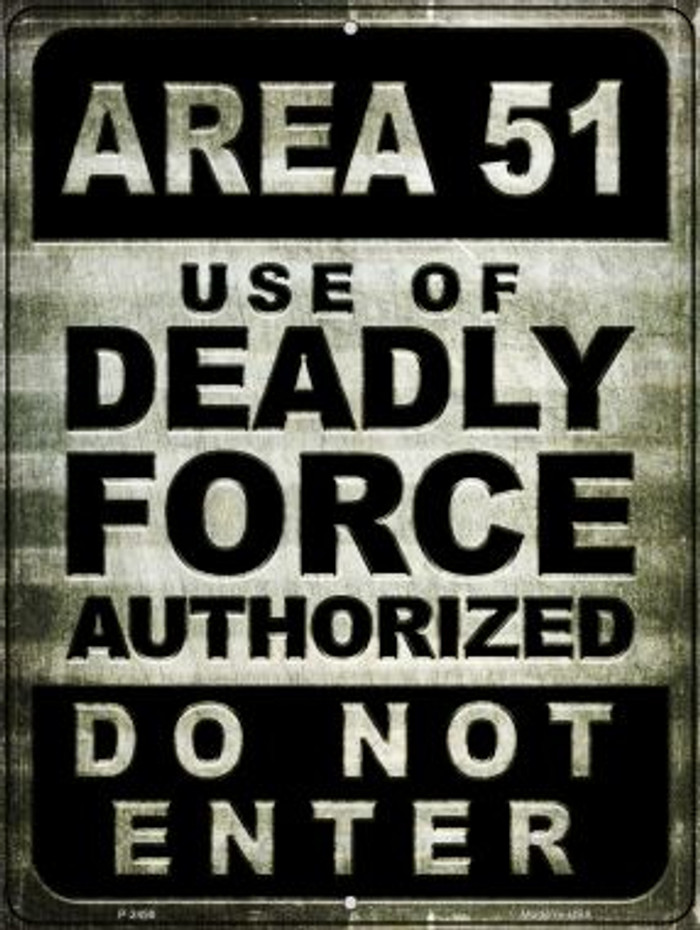 Area 51 Wholesale Novelty Metal Parking Sign P-2498