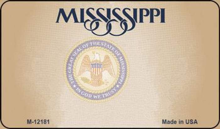 Mississippi Great Seal Blank Wholesale Novelty Metal Magnet M-12181