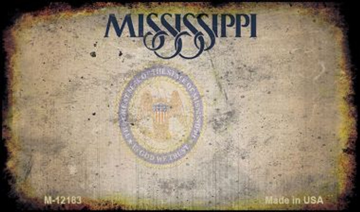 Mississippi Great Seal Rusty Blank Wholesale Novelty Metal Magnet M-12183