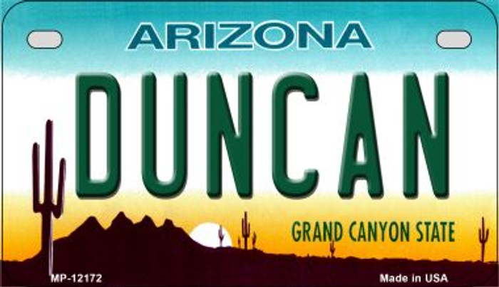 Duncan Arizona Wholesale Novelty Metal Motorcycle Plate MP-12172