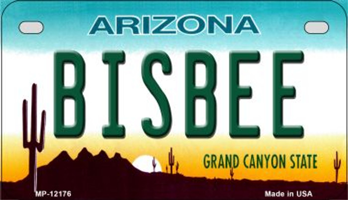 Bisbee Arizona Wholesale Novelty Metal Motorcycle Plate MP-12176