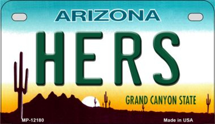Hers Arizona Wholesale Novelty Metal Motorcycle Plate MP-12180