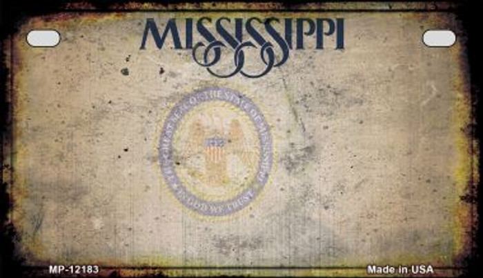Mississippi Great Seal Rusty Blank Wholesale Novelty Metal Motorcycle Plate MP-12183