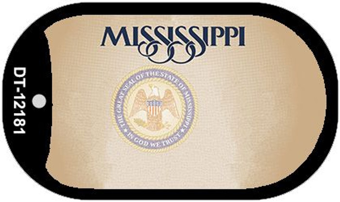 Mississippi Great Seal Blank Wholesale Novelty Metal Dog Tag Necklace DT-12181