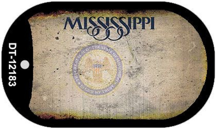 Mississippi Great Seal Rusty Blank Wholesale Novelty Metal Dog Tag Necklace DT-12183