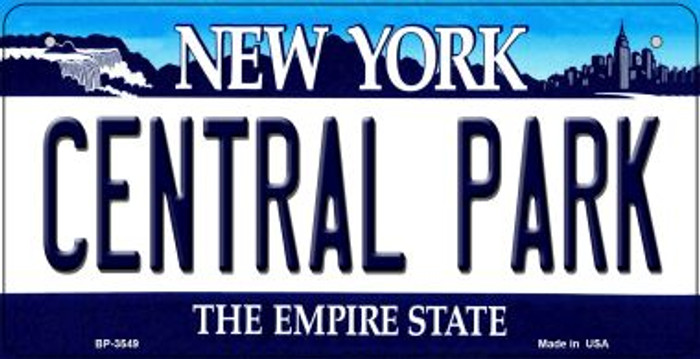 Central Park New York Wholesale Novelty Metal Bicycle Plate BP-3549
