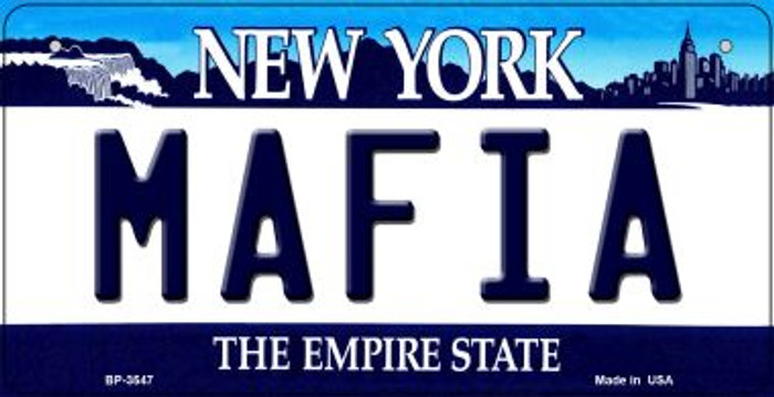 Mafia New York Wholesale Novelty Metal Bicycle Plate BP-3547