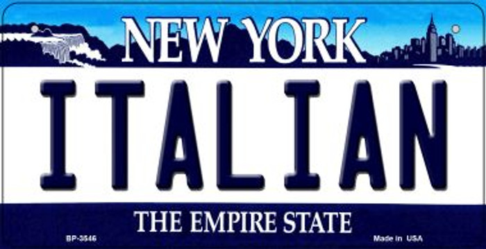 Italian New York Wholesale Novelty Metal Bicycle Plate BP-3546