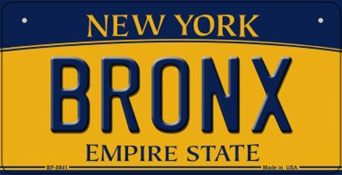 Bronx New York Wholesale Novelty Metal Bicycle Plate BP-8941