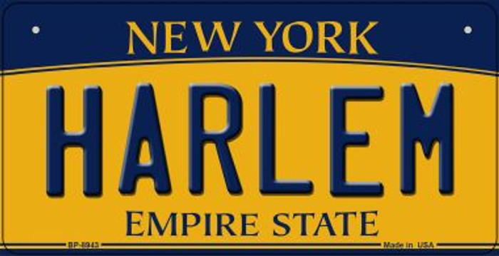 Harlem New York Wholesale Novelty Metal Bicycle Plate BP-8943