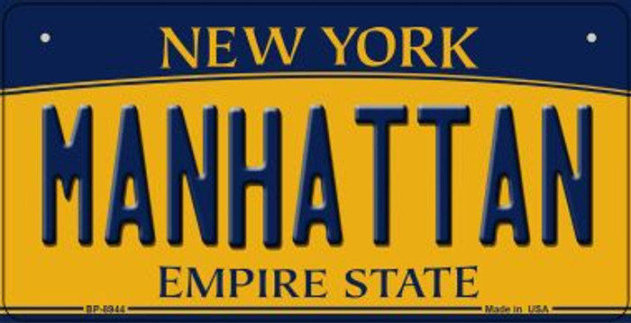 Manhattan New York Wholesale Novelty Metal Bicycle Plate BP-8944
