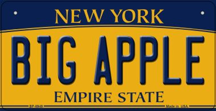 Big Apple New York Wholesale Novelty Metal Bicycle Plate BP-8949