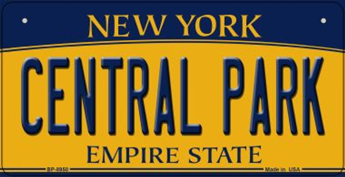 Central Park New York Wholesale Novelty Metal Bicycle Plate BP-8950