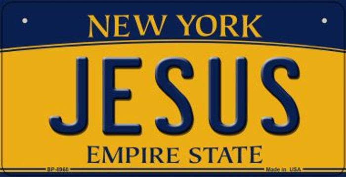 Jesus New York Wholesale Novelty Metal Bicycle Plate BP-8968