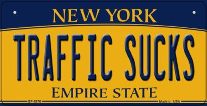 Traffic Sucks New York Wholesale Novelty Metal Bicycle Plate BP-8976