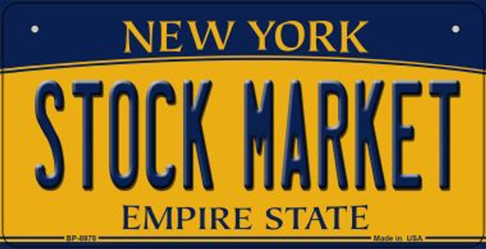 Stock Market New York Wholesale Novelty Metal Bicycle Plate BP-8978