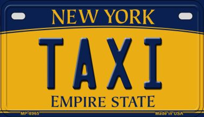 Taxi New York Wholesale Novelty Metal Motorcycle Plate MP-8965