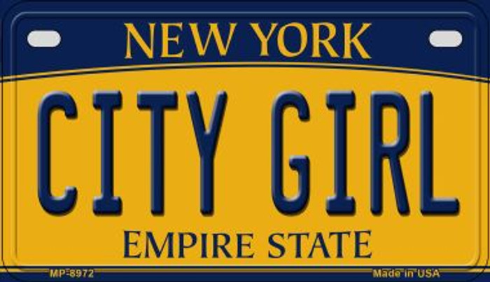 City Girl New York Wholesale Novelty Metal Motorcycle Plate MP-8972