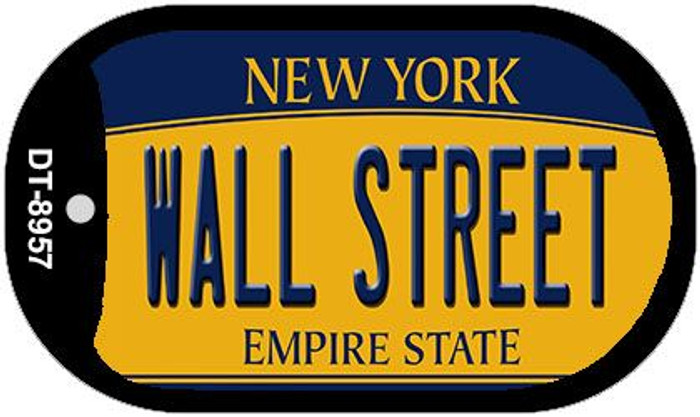 Wall Street New York Wholesale Novelty Metal Dog Tag Necklace DT-8957