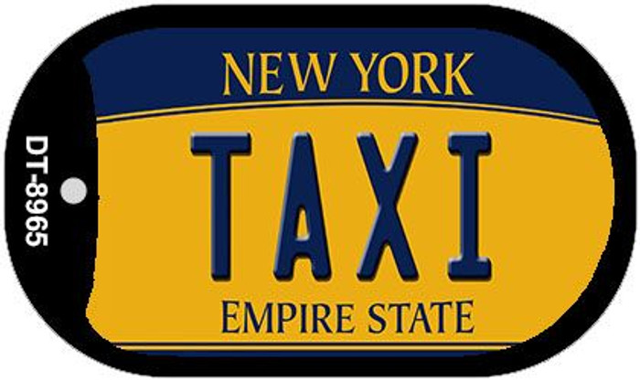 Taxi New York Wholesale Novelty Metal Dog Tag Necklace DT-8965