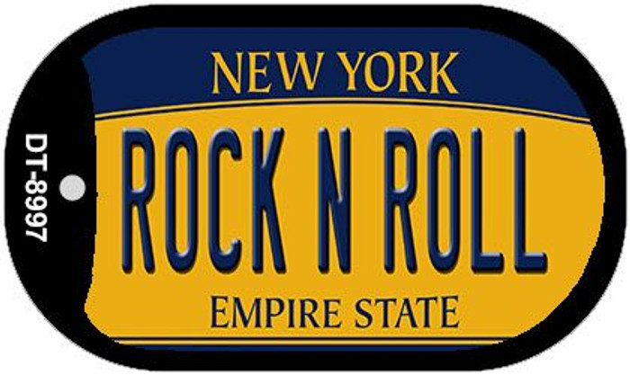 Rock N Roll New York Wholesale Novelty Metal Dog Tag Necklace DT-8997