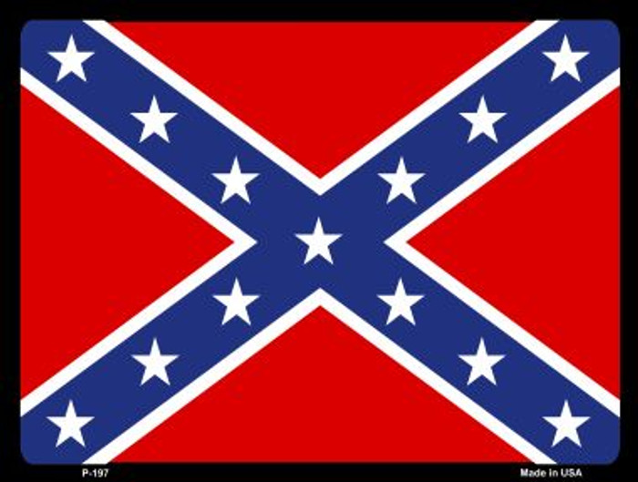Confederate Flag Wholesale Metal Novelty Parking Sign P-197