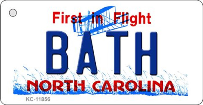 Bath North Carolina Wholesale Novelty Metal Key Chain KC-11856