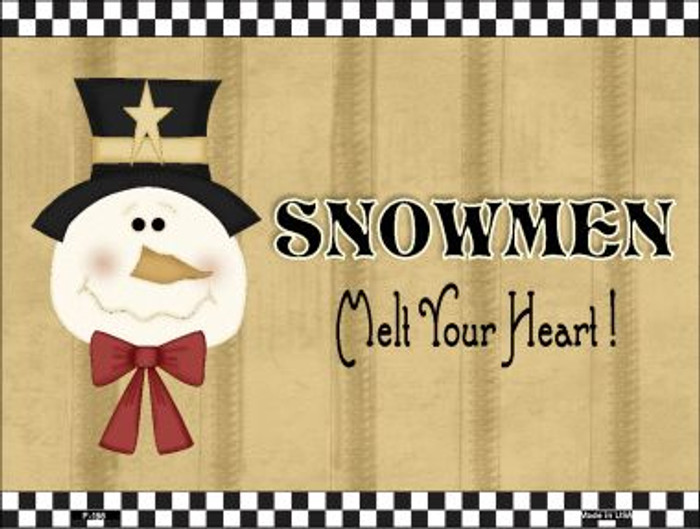 Snowmen Melt Your Heart Wholesale Metal Novelty Parking Sign P-198