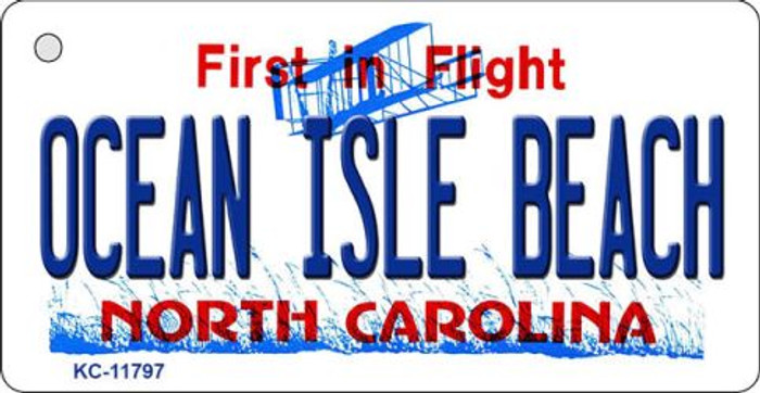 Ocean Isle Beach North Carolina Wholesale Novelty Metal Key Chain KC-11797