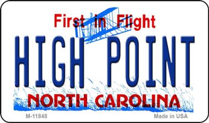High Point North Carolina Wholesale Novelty Metal Magnet M-11848