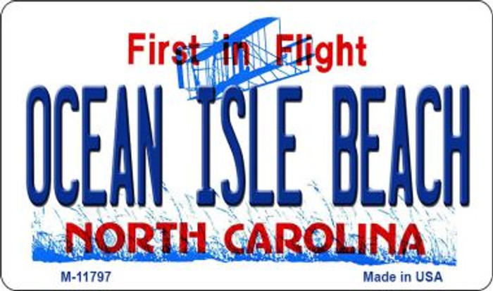Ocean Isle Beach North Carolina Wholesale Novelty Metal Magnet M-11797