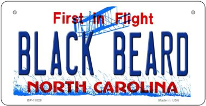 Black Beard North Carolina Wholesale Novelty Metal Bicycle Plate BP-11829