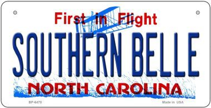 Southern Belle North Carolina Wholesale Novelty Metal Bicycle Plate BP-6470