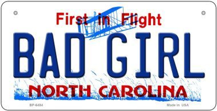 Bad Girl North Carolina Wholesale Novelty Metal Bicycle Plate BP-6484