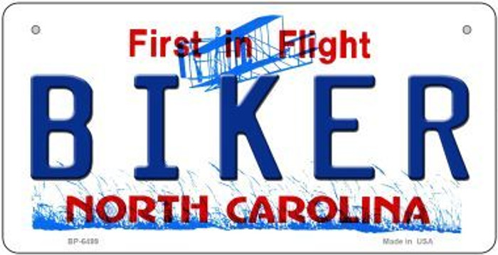 Biker North Carolina Wholesale Novelty Metal Bicycle Plate BP-6499