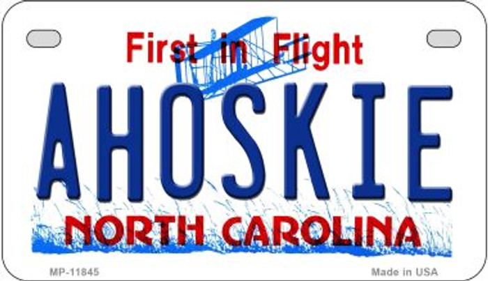 Ahoskie North Carolina Wholesale Novelty Metal Motorcycle Plate MP-11845