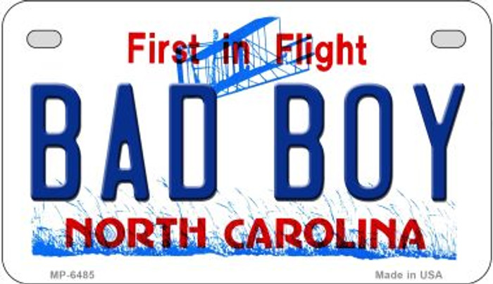 Bad Boy North Carolina Wholesale Novelty Metal Motorcycle Plate MP-6485