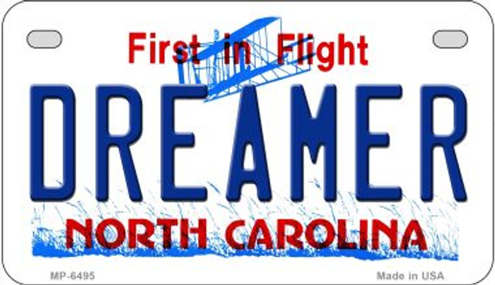 Dreamer North Carolina Wholesale Novelty Metal Motorcycle Plate MP-6495