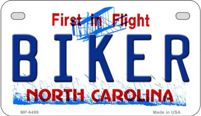 Biker North Carolina Wholesale Novelty Metal Motorcycle Plate MP-6499