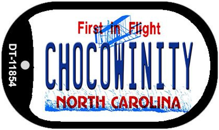 Chocowinity North Carolina Wholesale Novelty Metal Dog Tag Necklace DT-11854